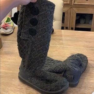 Ugg Australia Gray Knit boots